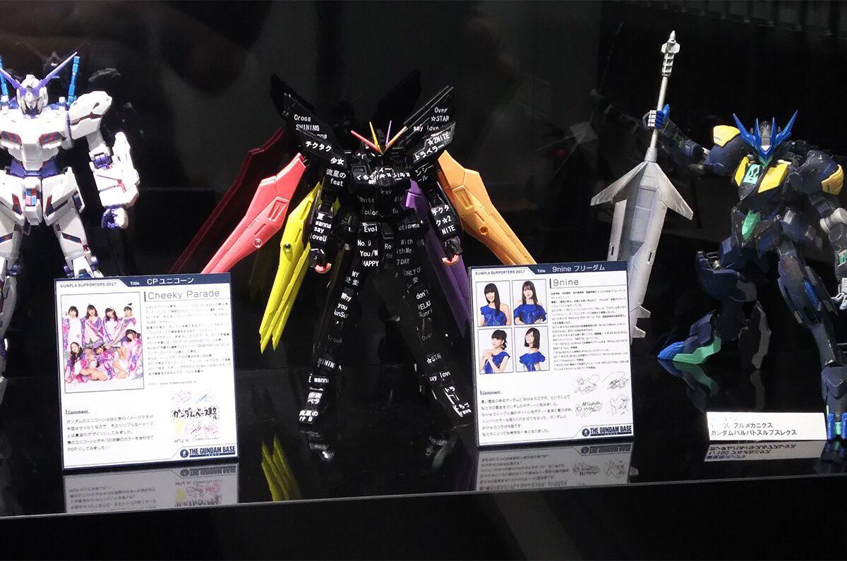 ダイバーシティのガンダムベース東京に9nineのコラボガンダムが展示されています😎✨ メンバーがデザ…