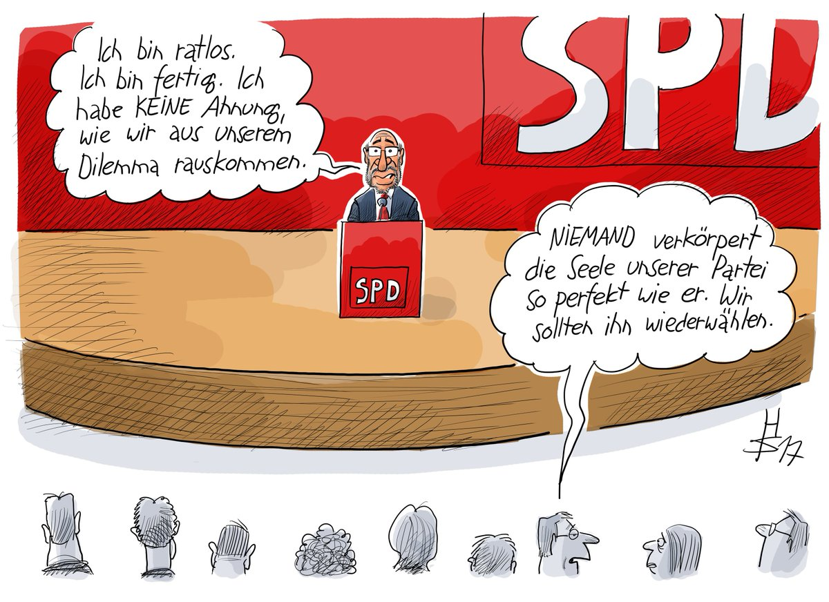 Die Seelenverwandtschaft des Martin #Schulz und der #SPD - unsere Karikatur des Tages #GroKo https://t.co/0Pt2n95blL