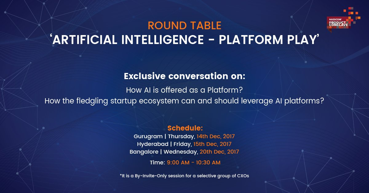 Nasscom product on twitter round table on artificial intelligence 104 am 7 dec 2017 stopboris Gallery