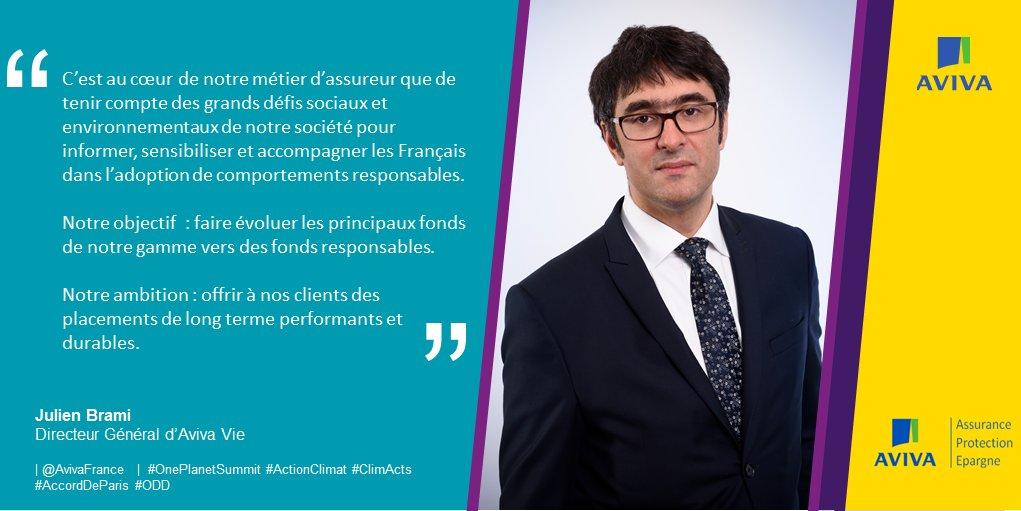 """Aviva France on Twitter""""Julien Brami, DG Aviva Vie, souligne l'importance du r u00f4le des  # Aviva Vie Bois Colombes"""