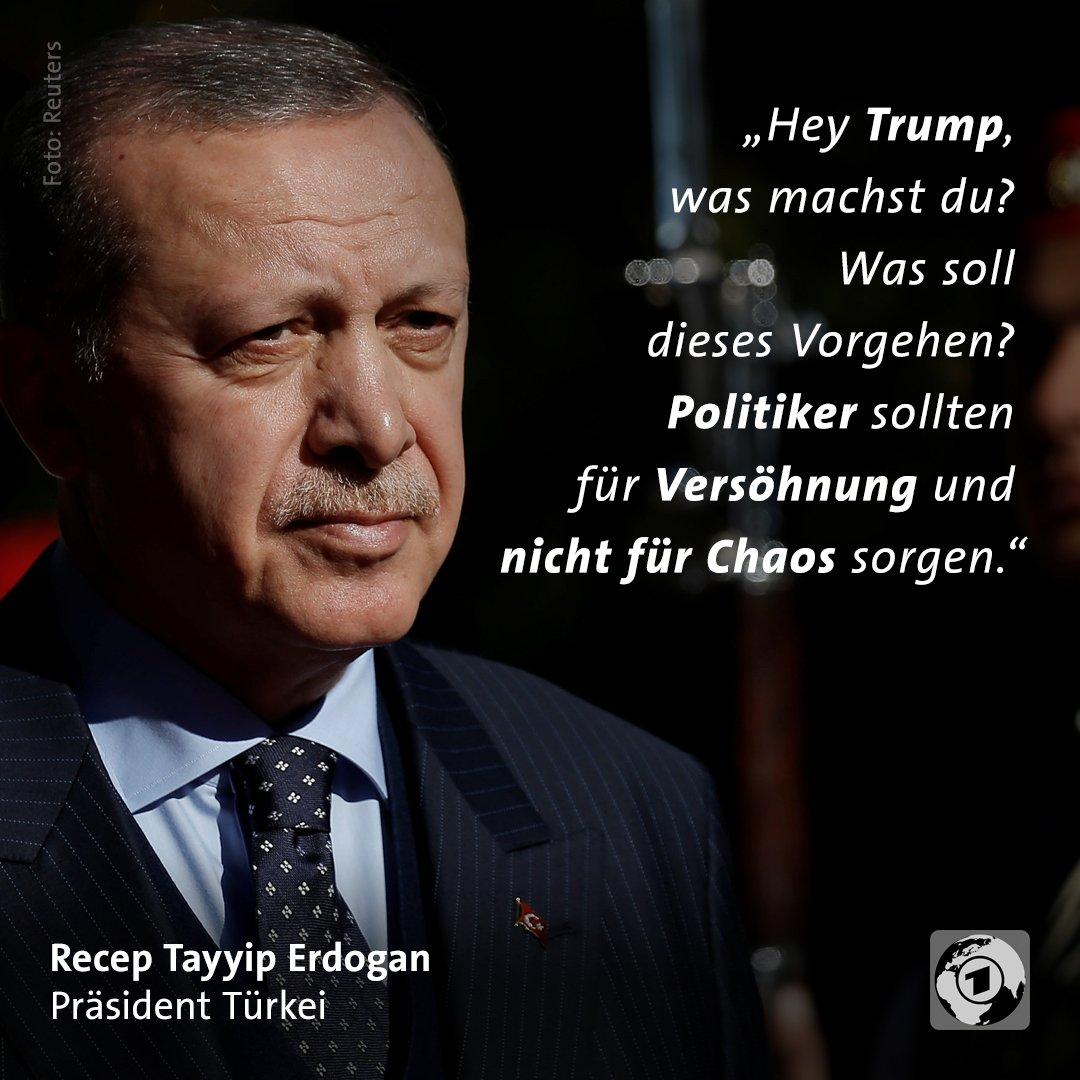 Kritik an Trumps Entscheidung zu #Jerusalem kommt auch aus der Türkei. #JerusalemEmbassy #Erdogan