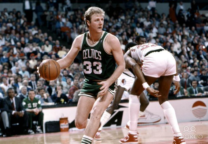 Happy Birthday Larry Bird. Here\s 13 mins of Bird abusing defenders with post moves!   :