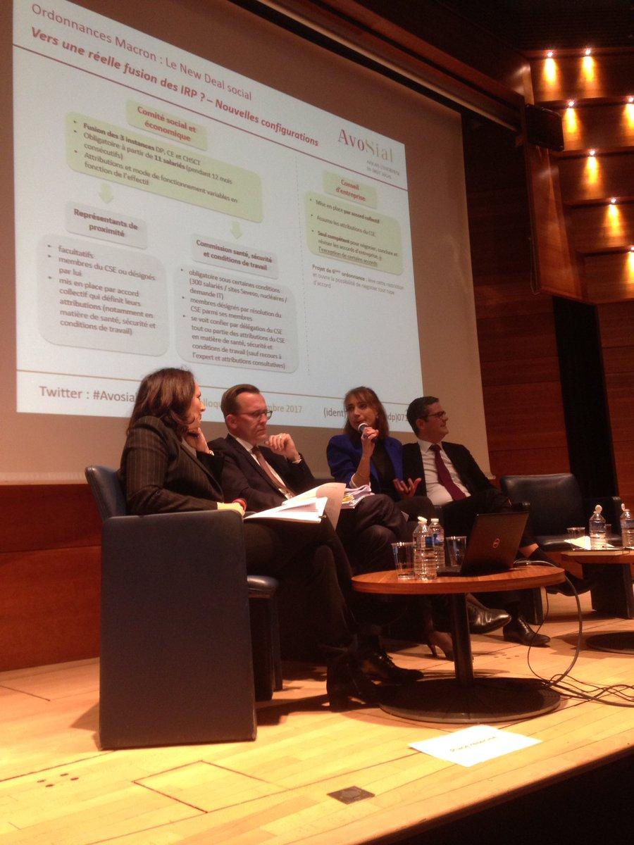 """Début de la 3e et dernière table ronde : """"Vers une réelle fusion des #IRP ?"""" Claire Scotton et Franck Morel sont rejoints par Stéphanie Guedes Da Costa (membre du Bureau d'#AvoSial) et Xavier de Jerphanion (AvoSial) #OrdonnancesMacronpic.twitter.com/ziXwsimtpK"""