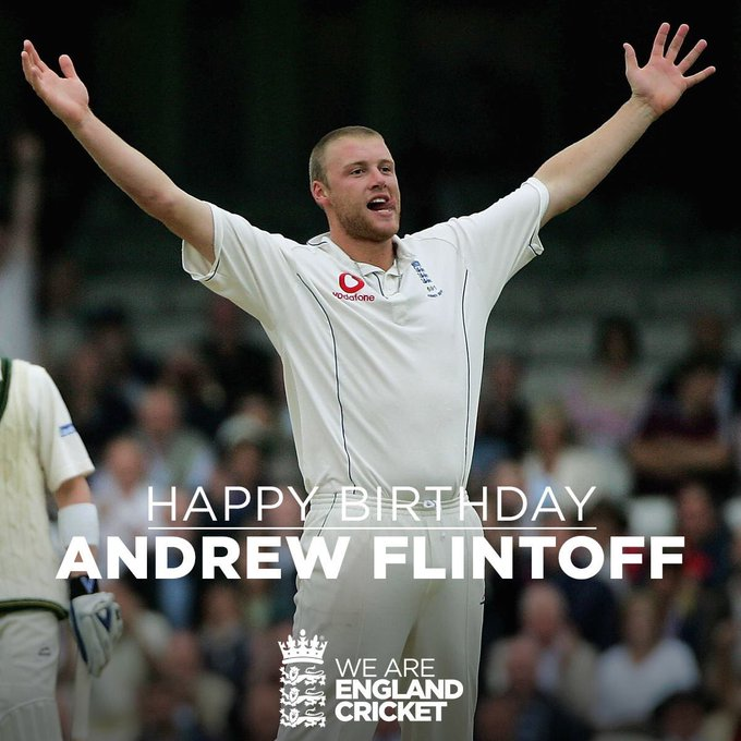 Happy Birthday Andrew Flintoff! Was a terrific player for the England cricket team!