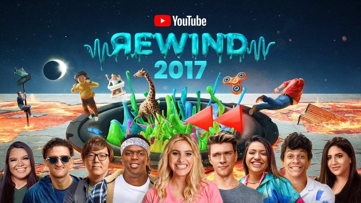 そういえば今回のYouTube Rewind2017、2014ぶりにサムネイルに載ることが出来ました…