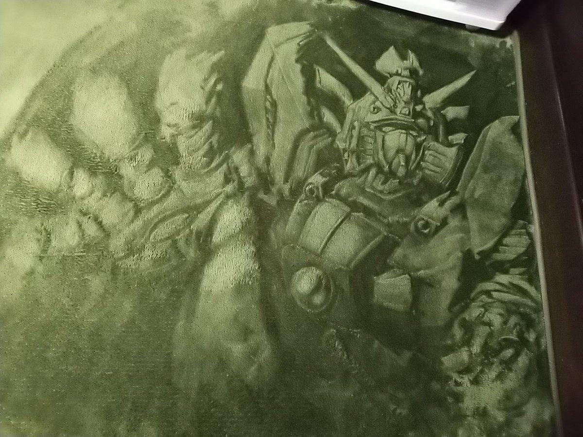 絨毯にシャイニングフィンガー描きました