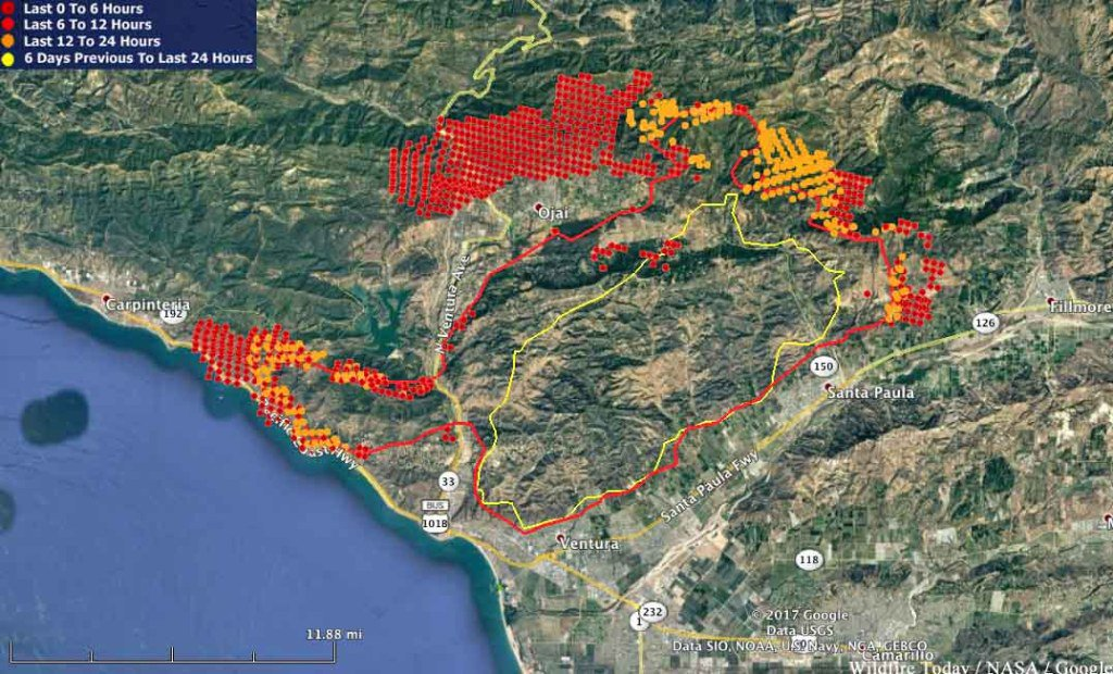 Wildfire Today On Twitter Thomas Fire Almost Surrounds Ojai