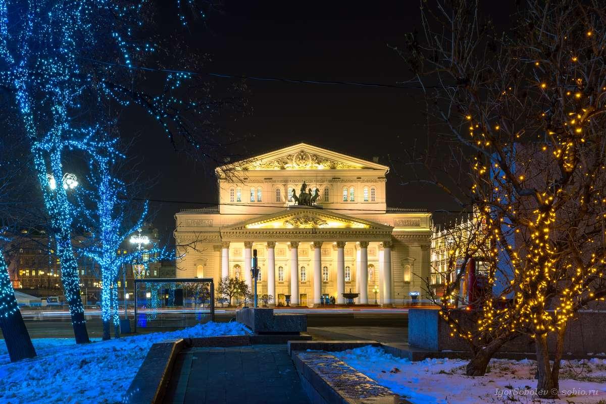 большой театр зимой фото наиболее