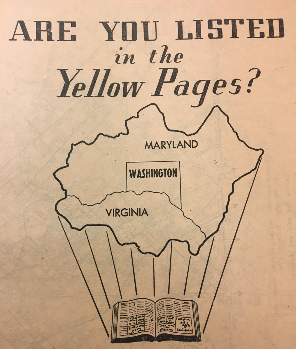 washington d c area yellow pages