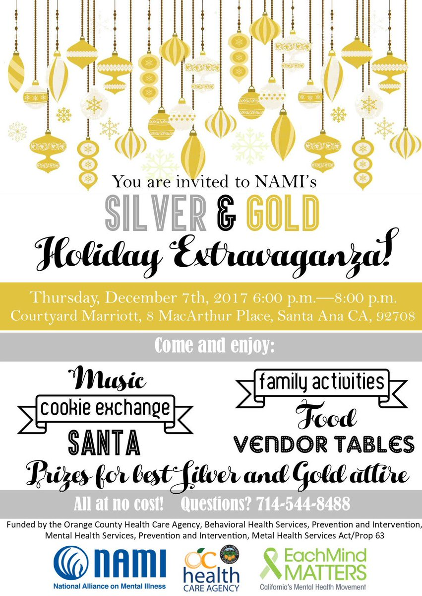 Nami Orange County On Twitter Tonight Is Silver Gold Family Fun