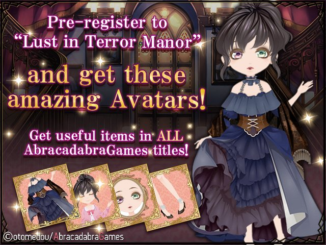 Pre-Registration Campaign on now for Lust in Terror Manor: The Truth Unveiled  Read More:  https:// kokoro-cafe.net/index.php?topi c=2111.msg45934#msg45934 &nbsp; …  #otomegame #visualnovel #ios #android<br>http://pic.twitter.com/oRTe9jLXLw
