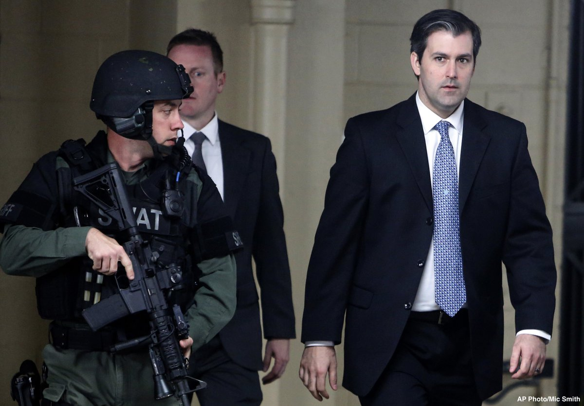 JUST IN: Former South Carolina police officer Michael Slager sentenced to 19-24 years in prison for deadly shooting of unarmed Walter Scott.