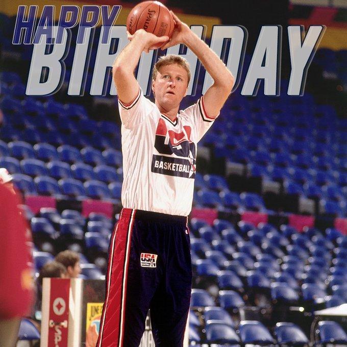 Sending happy birthday wishes to Larry Bird!