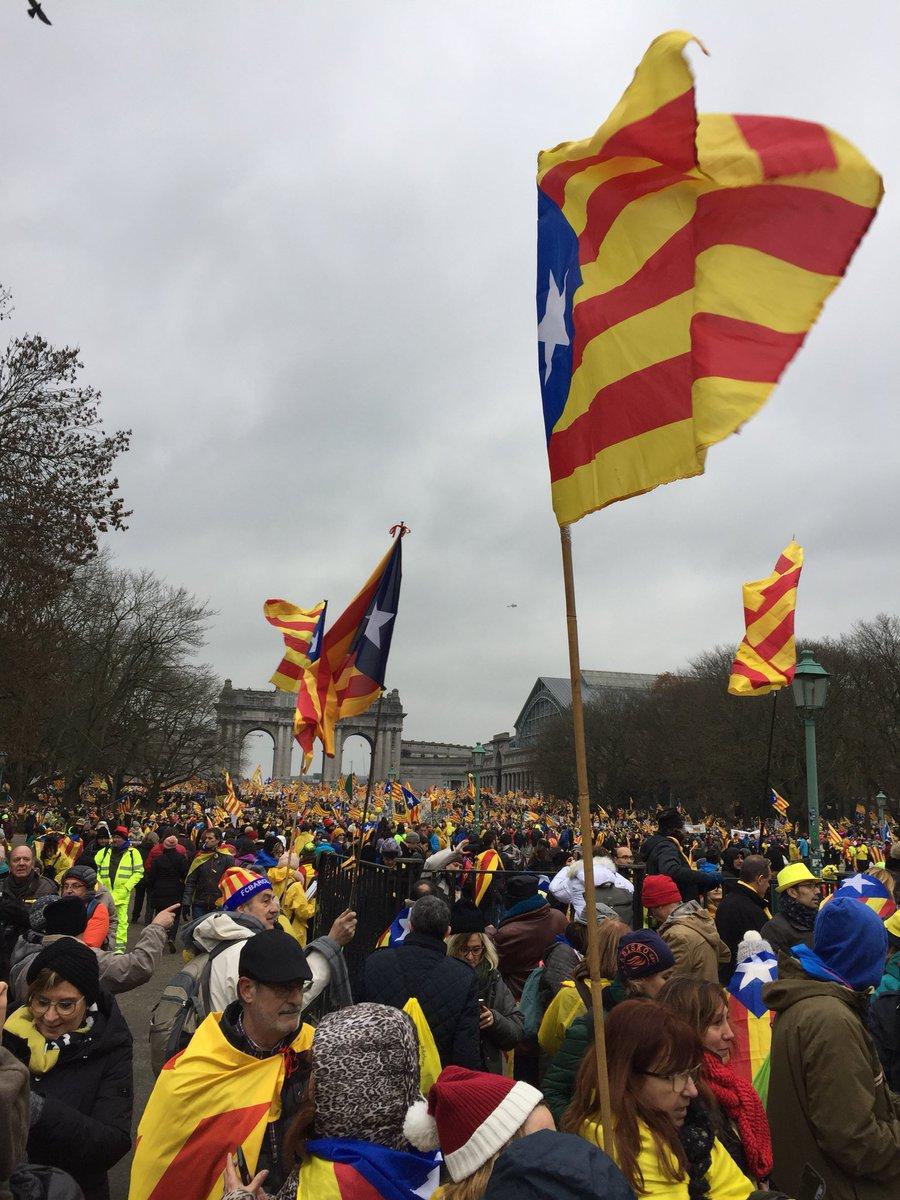 45.000 catalans a Brusel•les, aixó sembl...