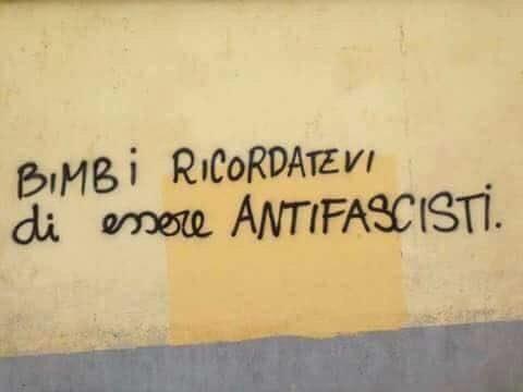 Promemoria per l'infanzia e non solo. Il fascismo non è un'opinione, è un crimine.