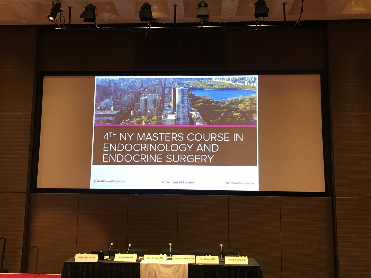 Our doctors discuss #AdrenocorticalCancer at the NY Masters