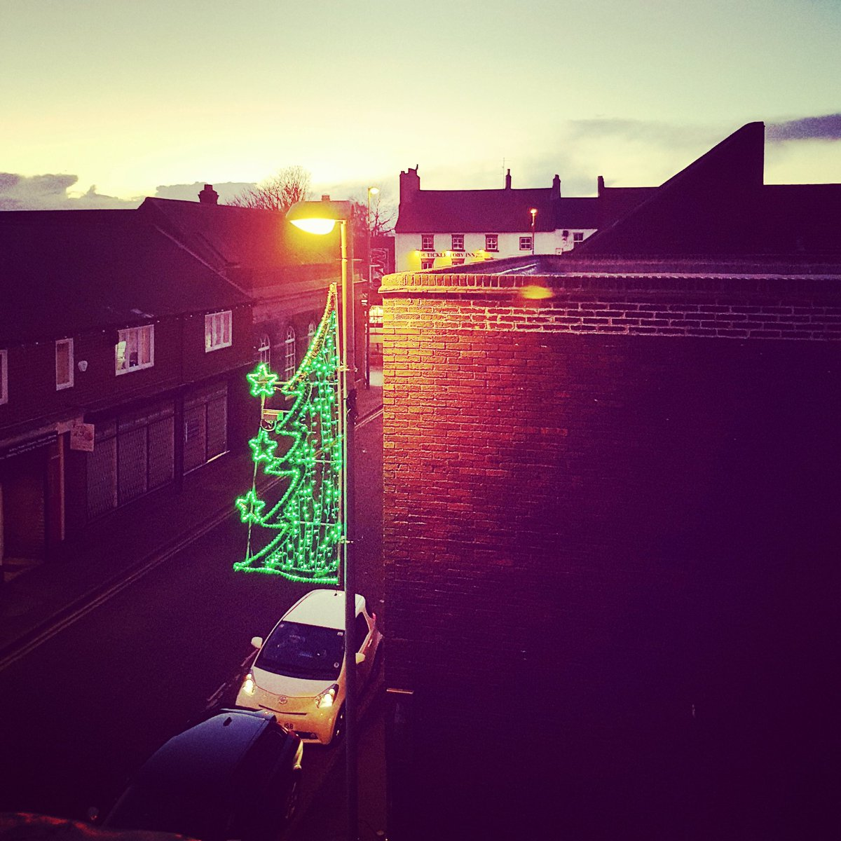 View from the office window; our very own &#39;Oxford Street&#39;. #christmas  #christmaslights #RfD #designforprint<br>http://pic.twitter.com/cKkVISNnLf