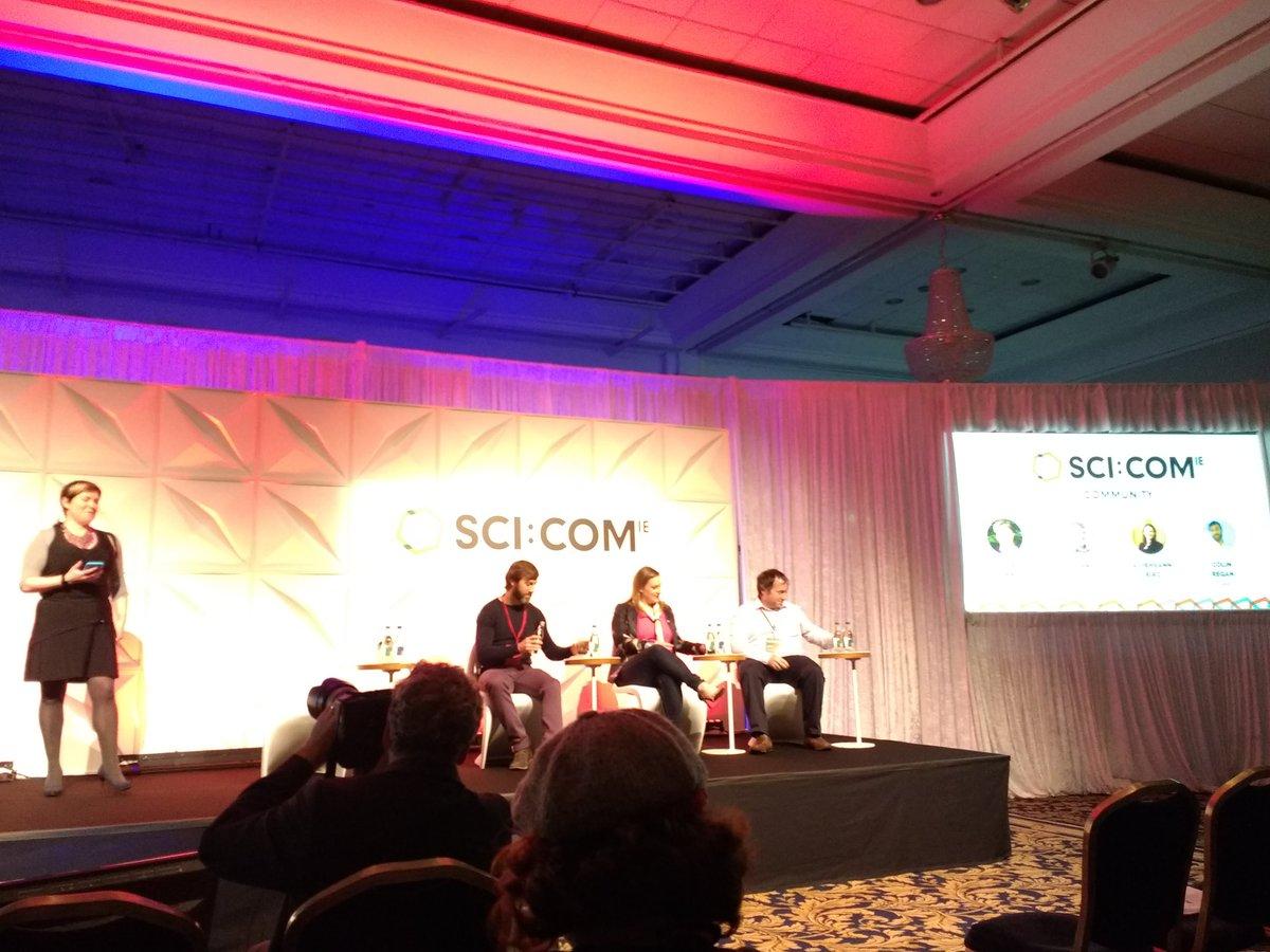 Community panel at #SCICOM17: How do we...