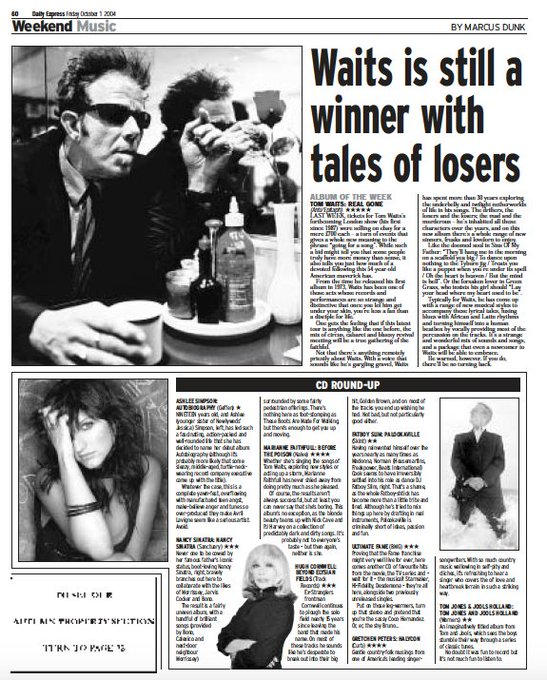 Happy Birthday  page from 2004  Tom Waits