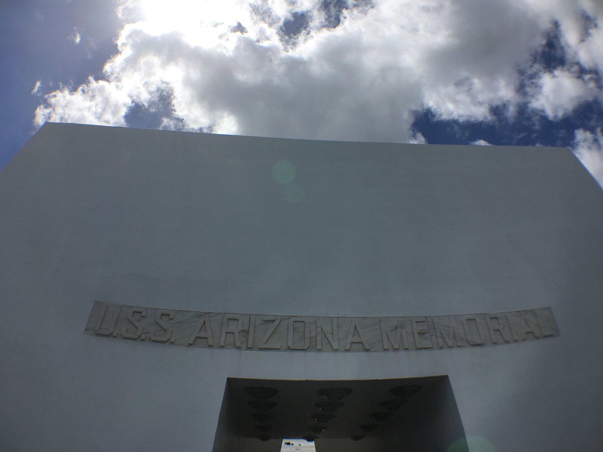 I had the privilege of visiting the USS Arizona memorial site earlier this year.  #PearlHarbor76