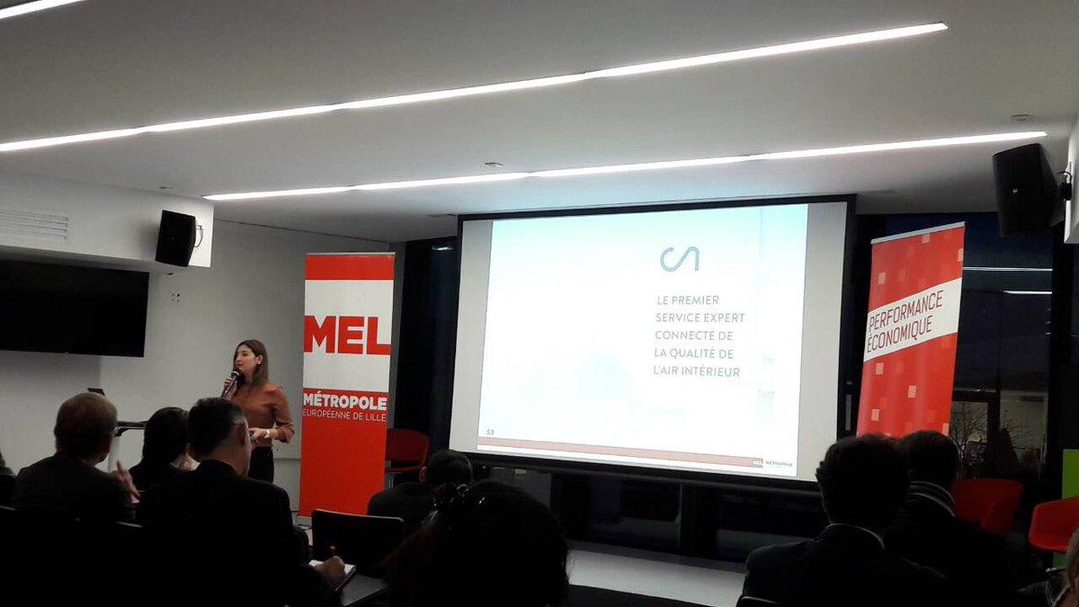 #IoTWeek @IOTcluster @MEL_Lille #pitch @CozyAirOfficiel le service expert connecté de la qualité de l'air intérieur #SmartBuilding pic.twitter.com/SdG2UCAv0O