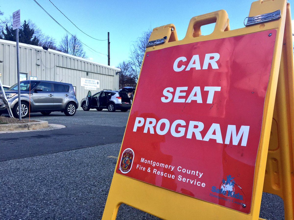 W The Car Safety Seat Program At MCFRS Skis Safe Kids Inspection Station Location In Aspen Hill Today 15 Scheduled Installation