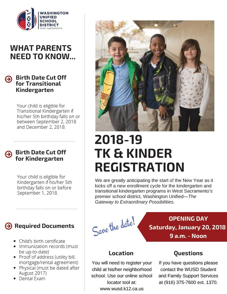 Wusd On Twitter Save The Date Wusdk12 Tk Kinder Registration