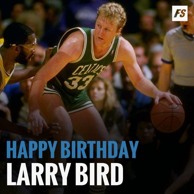 Happy Birthday to 12x All-Star, 3x NBA MVP, 3x NBA champion and 2x NBA Finals MVP Larry Bird!