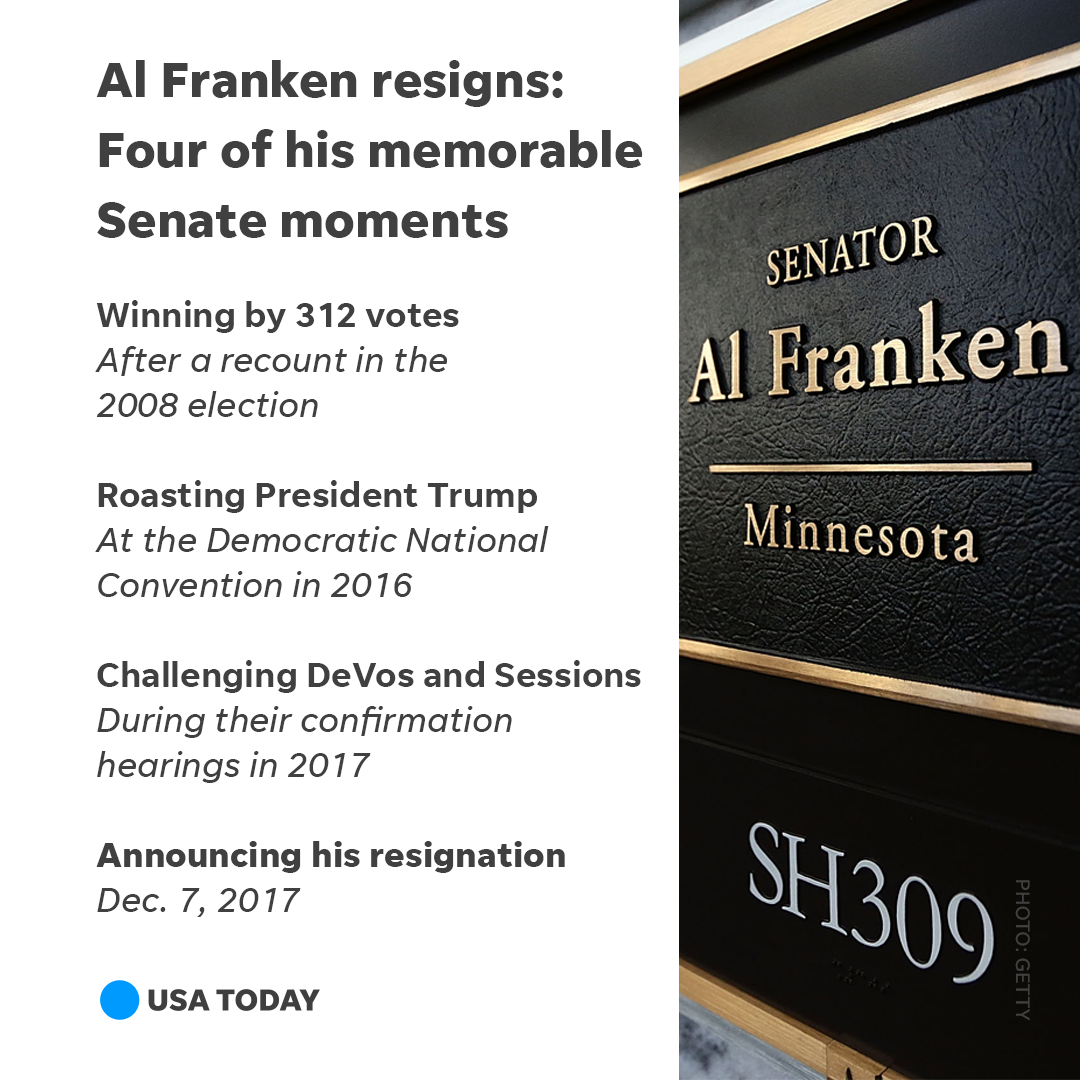 A look back at the times Sen. Al Franken made headlines during his time in office. https://t.co/GfSgS0eUrg #Franken