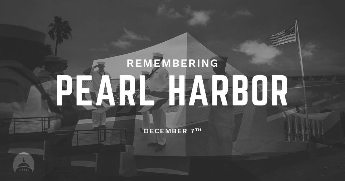 On this solemn day of commemoration, we remember and we reflect. #PearlHarbor #PearlHarborRemembranceDay