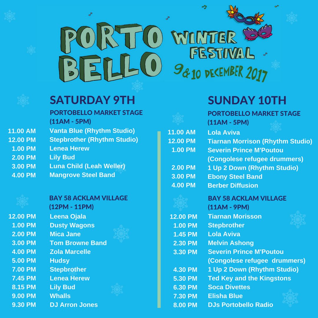 Winter Festival timetable