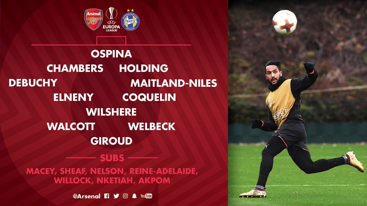 Here's how we line up for #AFCvBATE...