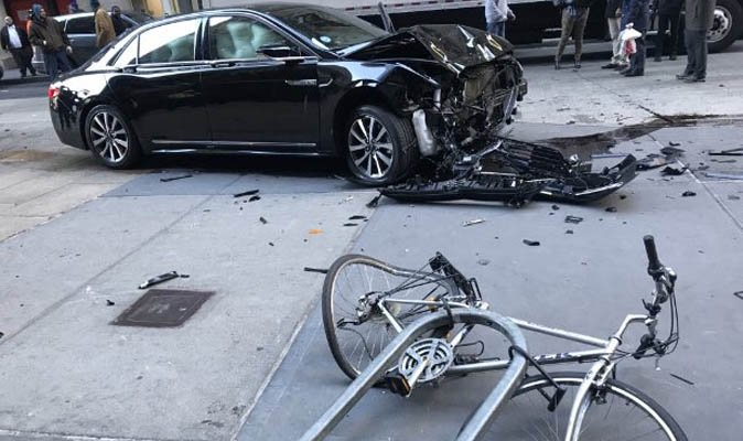 Driver rams car into people near World Trade Center in lower Manhattan (Terrorism?)