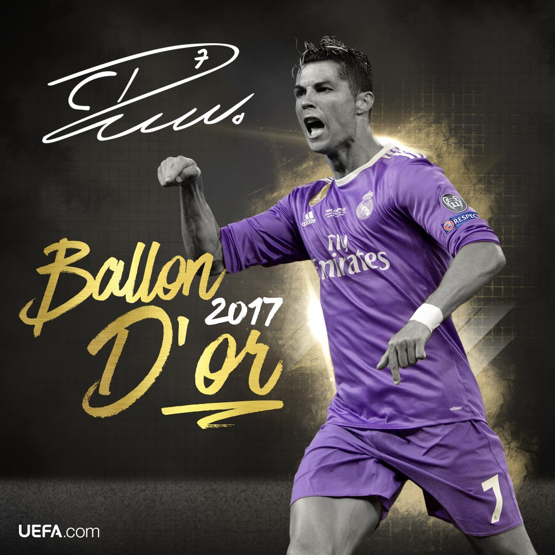 and the winner of the #BallondOR is... Ronaldo! 🏆 🎉🎇  Congratulations, @cristiano! 👏👏👏