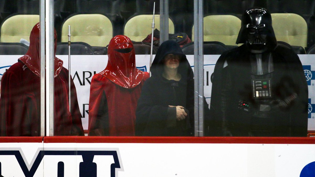 Has there ever been a more fitting crowd in the sin bin?