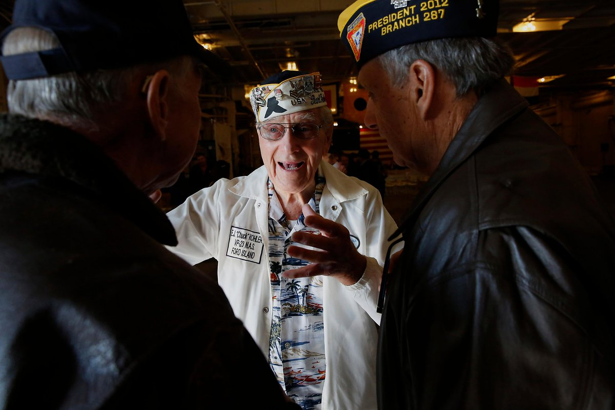 Remembering the unforgettable: #PearlHarbor survivors honored in Alameda. https://t.co/1FkvLb9zEg via @CarlnolteSF