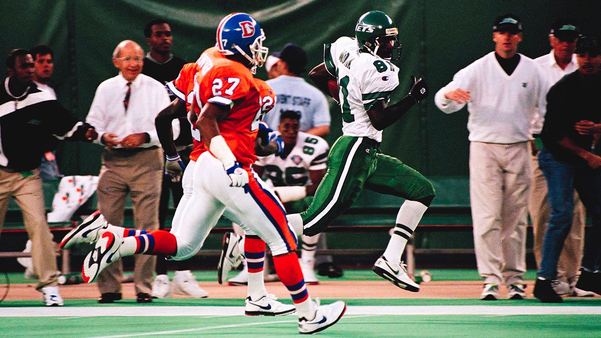 Boomer to Monk in OT!  #TBT to our 25-22 win over Denver in 1994.  #NYJvsDEN throwbacks → https://t.co/rFnSBb5ieX