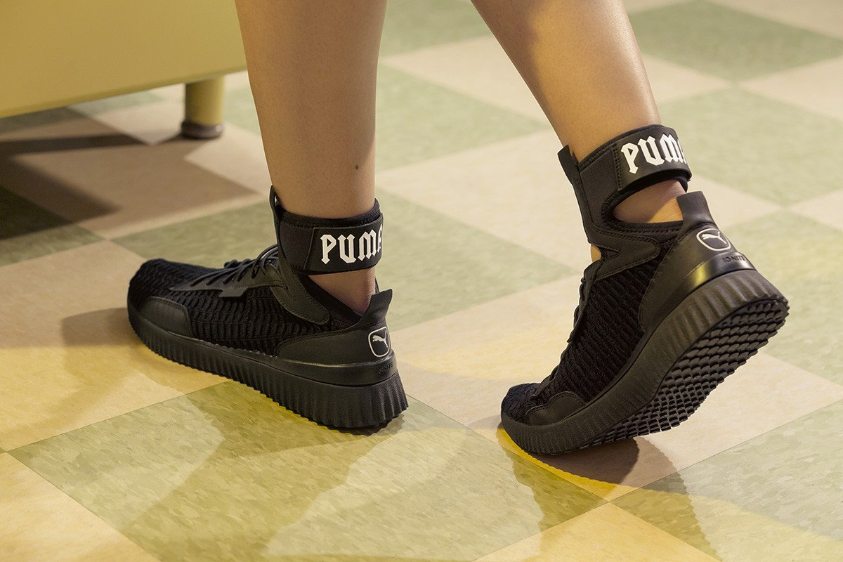 Rihanna debuts all-new FENTY PUMA Trainer Mid sneaker  https   t b773ecc736