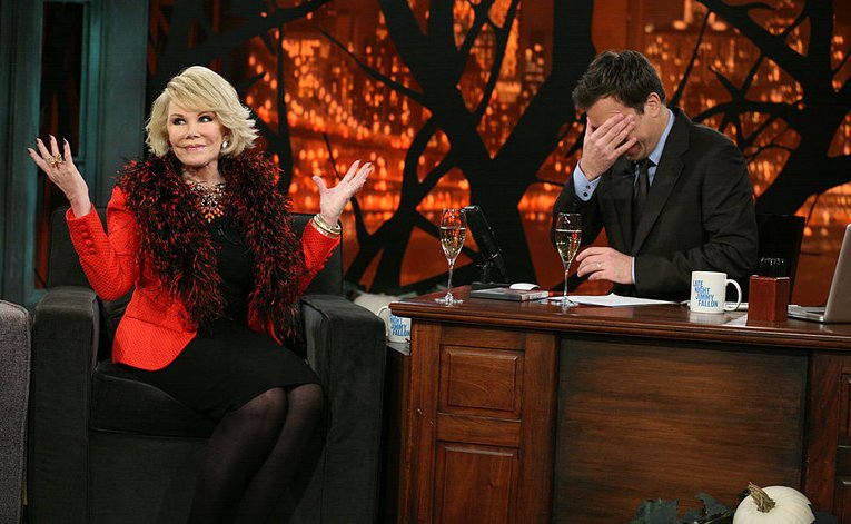 #TBT from @MelRivers: What did she say this time?! Mom on Late Night with @jimmyfallon in 2010. https://t.co/v73by2EPLi