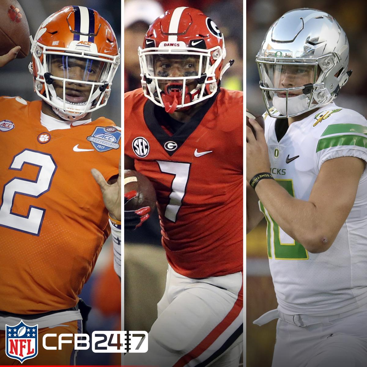 Top 10 #Heisman candidates for 2018  1. Kelly Bryant, @ClemsonFB 2. D'Andre Swift, @FootballUGA 3. Justin Herbert, @WinTheDay 4-10: https://t.co/c1V6cuQ6iu