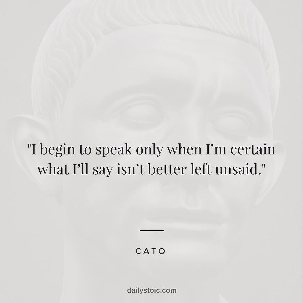 But Theyre Only 12 Why And How To Begin >> Daily Stoic On Twitter I Begin To Speak Only When I M Certain