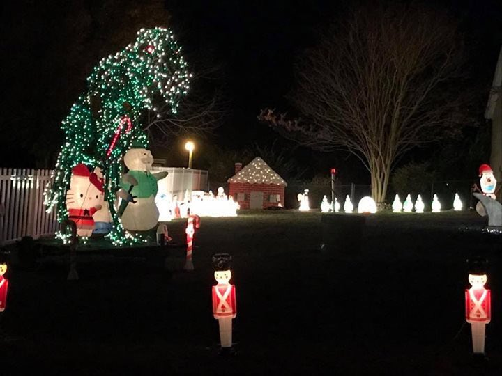 xmas light displays been going for 15 years recently moved dinosaur boat real army truck real fire truck ufo snoopy shark in raleigh - Christmas Light Show Raleigh Nc