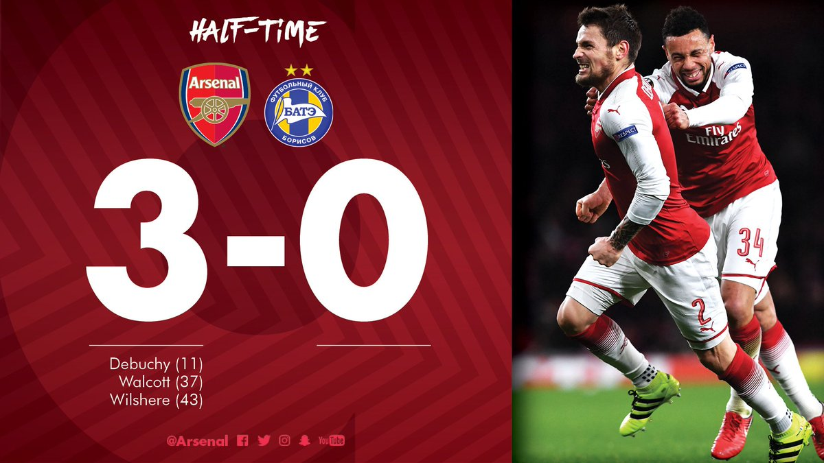 It's been a pleasing first half  #AFCvBATE