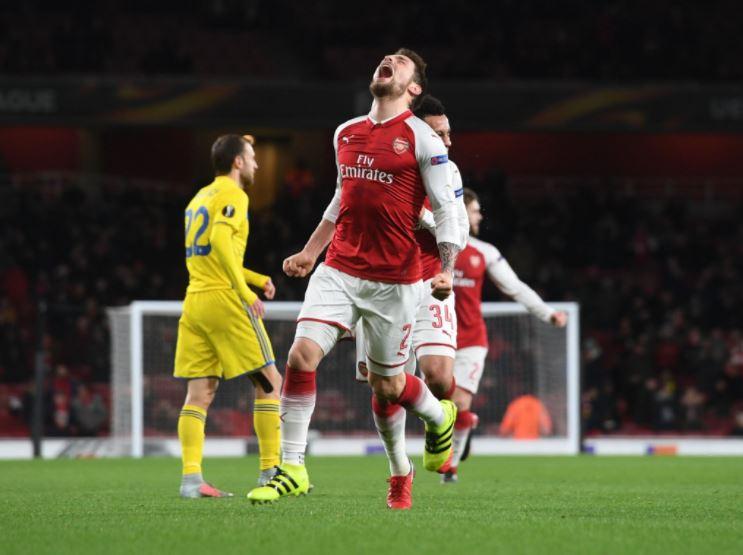 [#UEL🏆] Mathieu Debuchy a marqué ce soir avec Arsenal face au Bate Borisov !   Quelle histoire incroyable, après 3 ans de galère, serait-il de retour ?