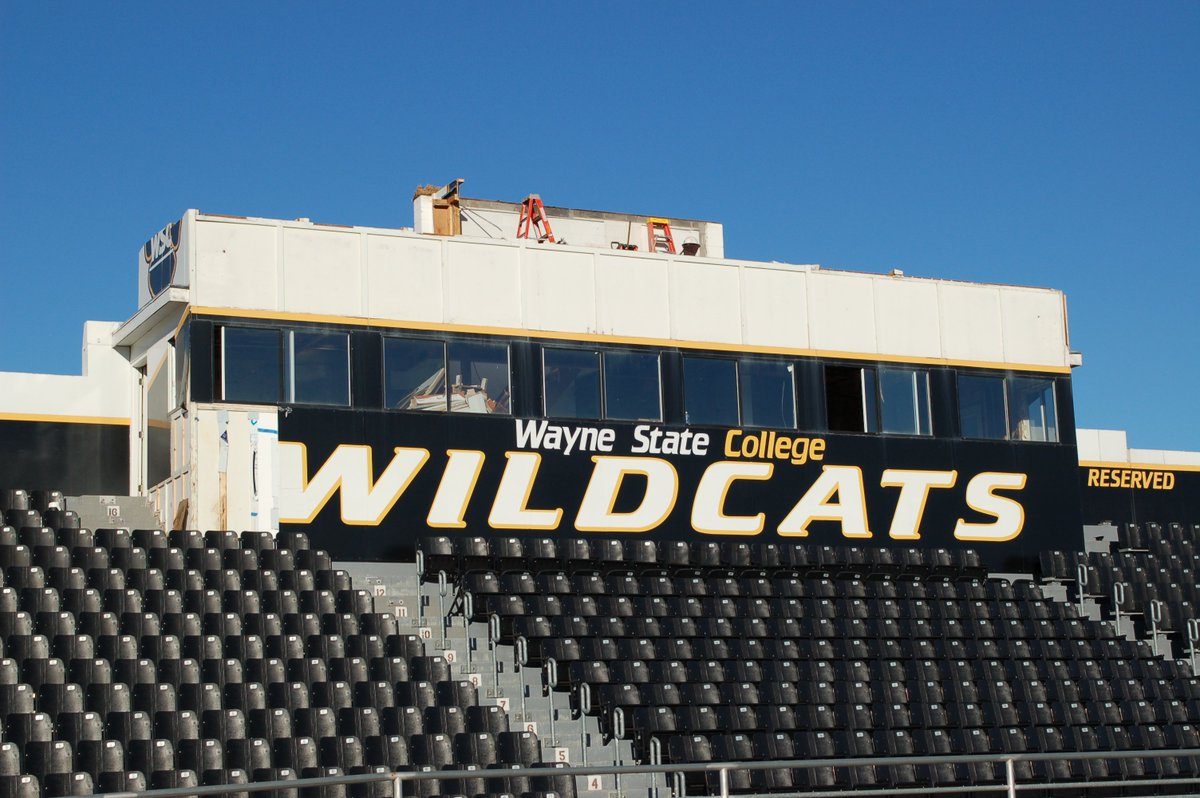 Wayne State Wildcats On Twitter Tearing Down The Old Football Press Box And Pouring Footings For New One Today At Cunningham Field