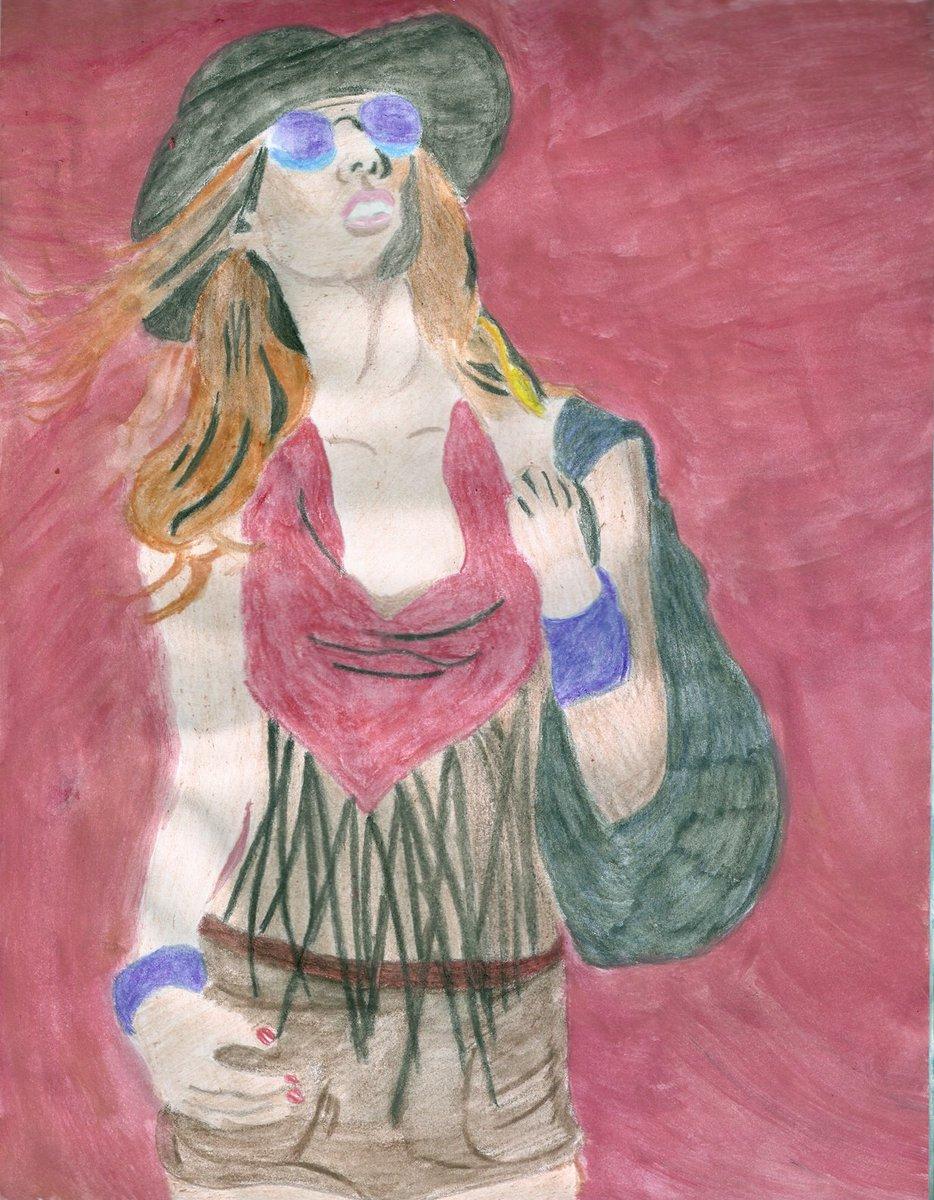 RT @MAGDALENA_1975: #SiHayAlgoQueMeAlegraEs estar sola y dibujar  #arte #artes #dibujo #dibujos #Retratos https://t.co/tpd9yCW26a