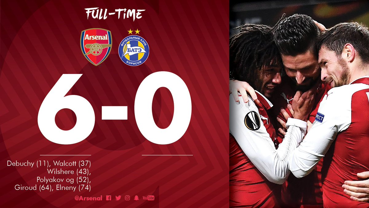 Six of the best  #AFCvBATE