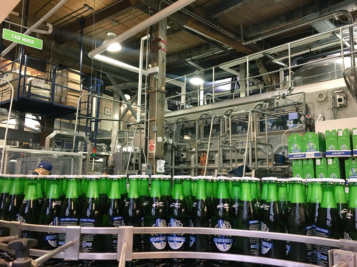 Our bottling line fills 120,000 bottles...