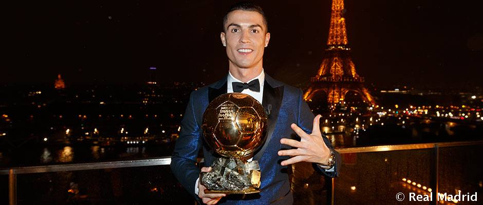 👏🏆⚽ #CRI5TIANO Congratulations to @Cristiano Ronaldo for winning his fifth Ballon d'Or!