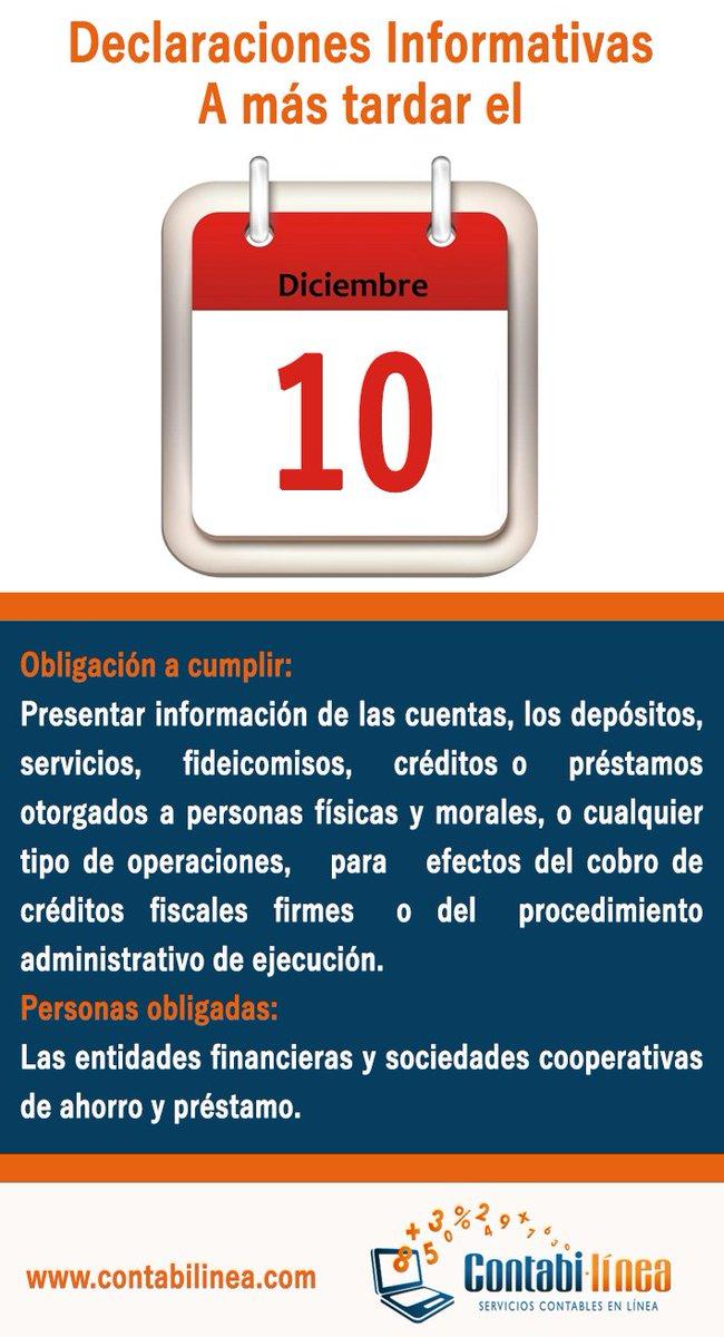 RT @ContabilineaMX: #SoloLosAmigos te avisan que el 10 de Diciembre es #LaFechaLímite https://t.co/7YBpNY2Aid